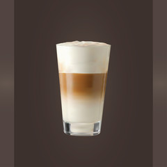 Vector  Latte Glass