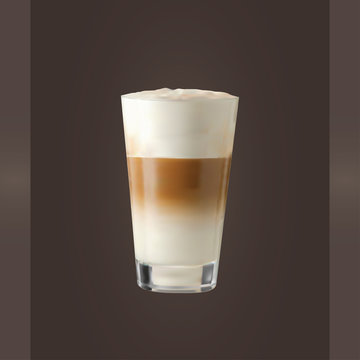 Vector  Latte Glass