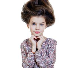 Hair Up, Portrait of beautiful little girl