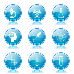 Science Instruments Blue Vector Button Icon Design Set