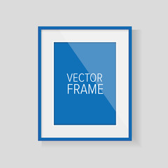 Realistic vector frame blue