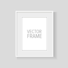 Realistic vector frame white