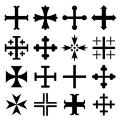 Heraldic Crosses Set