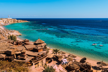 Fotobehang Egypte Red Sea coastline in Sharm El Sheikh, Egypt, Sinai