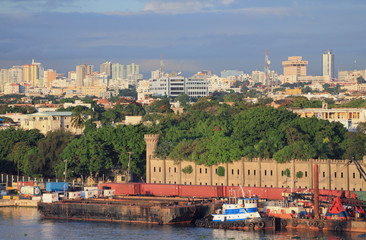 Port, fortress, city. Santo Domingo, Dominican republic