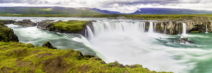 Godafoss, a beautiful waterfall