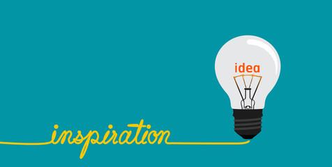 Inspiration concept-Creative idea in bulb shape