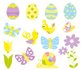 Easter set - vectors for children
