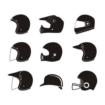 helmet silhouette - helmet icon sets