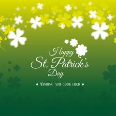 St patricks day card design, vector illustration.