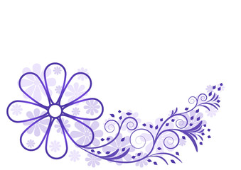 Blumen mit Swirrl