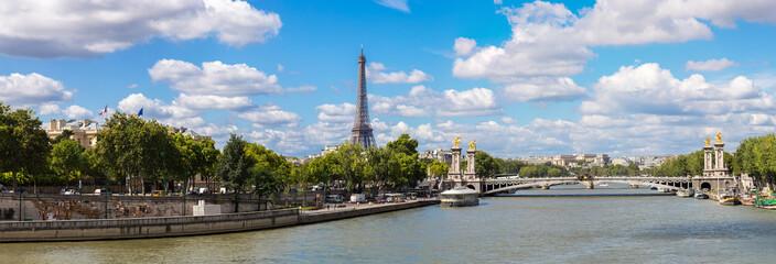Eiffel Tower and bridge Alexandre III