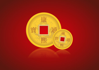 chinese coin for chinese newyear