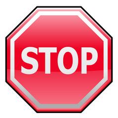 Stop traffic sign or symbol