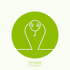 Wall Mural - The symbol of the snake.