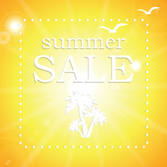 Vector abstract summer sale poster