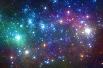blue and purple stars background