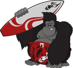 Monkey surfer