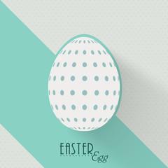 Creative Easter egg on stylish background.