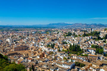 Panoramic view of Granada and outskirts