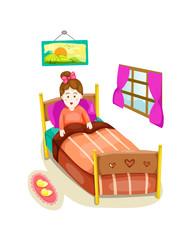 cute girl in bed