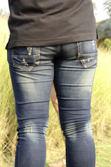 waist with jeans