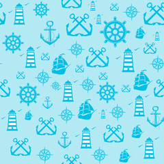 Vector sample Pattern Seamless with Marine elements.