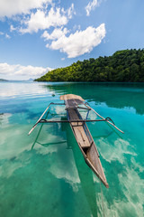 Traditional boat in Indonesia