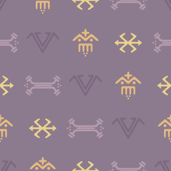 Seamless background with Touareg tattoo symbols