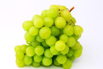 green grape fruit glucose dessert on a white background