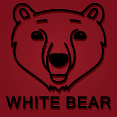 head of polar bear logo