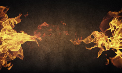 Poster Fire / Flame Fire flames
