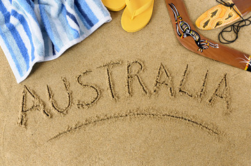 Spoed Fotobehang Australië Australia beach background