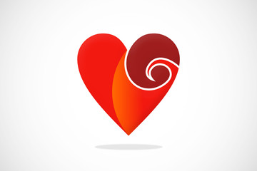 love curl vector logo