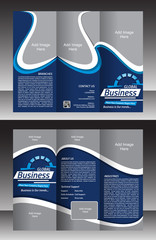tri fold Global Business brochure template