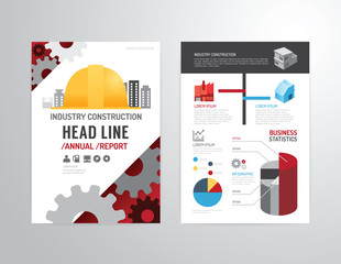 Vector brochure, flyer, magazine cover booklet poster design tem