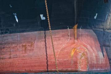 oil tanker ship prow