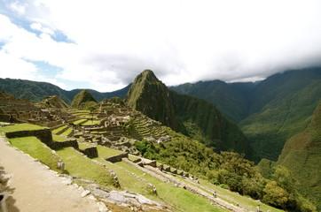 A bird's-eye view Machu Picchu