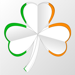 irish flag and symbol combination on white backgound
