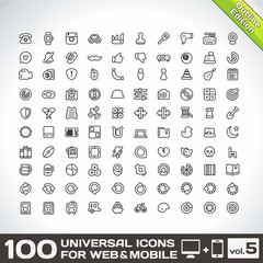 100 Universal Icons For Web and Mobile volume 5