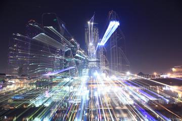 background blur bokeh city lights night