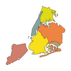 Map of New-York