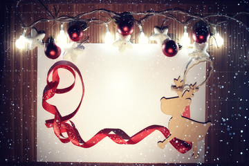 Christmas ornaments, garland, design, background