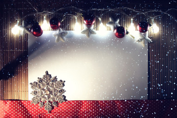 Christmas ornaments, garland, design, background