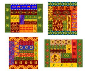 African primitive geometric ornamental pattern
