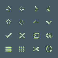 vector outline various navigation menu buttons icons