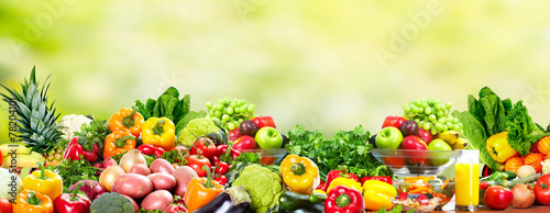 Wall mural Fruits and vegetables.