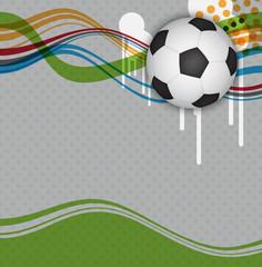 vector soccer background poster design