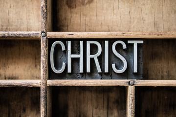 Christ Letterpress Type in Drawer