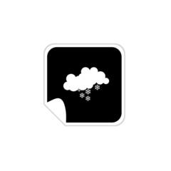 weather snowflake icons vector